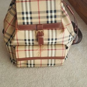 Burberry backpack authentic
